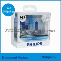 1PCS 100% car light source h7 Original Diamond vision 5000k super white H7 headlight bulbs