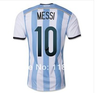 #10 MESSI Argentina home Jersey 2014 World Cup Argentina home jersey ,Thai embroidery Fans  Version,Mix Orders