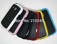 Wholesale 100pcs/lot New Stereo Veins Carbon Fiber Bumblebee TPU Back Cover Skin Case For Samsung S3 Mini i8190