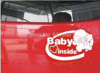 Pioneered&Top New Car Styling Baby in Cars Rear Door Waterproof Stickers Car Reflective Film  Wholesale Warning Sticker Vinyl