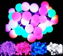 Promotion! 10m LED Light String Strip Fairy Lights For Wedding Xmas Party Home Decoration 80 Matte Balls 110V/220V EU/US/UK/AU(China (Mainland))