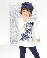 Children Autumn Clothing Set Leopard Long Sleeve T shirt + Leggings 2pcs Girls Casual Set 2-6Year Baby Kids Suit Retail
