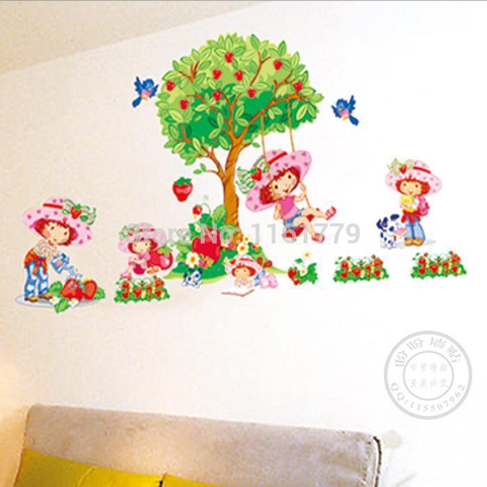 Online kopen wholesale meisjes kamer muurschilderingen uit china meisjes kamer muurschilderingen - Muur kamer meisje ...