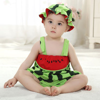 Cute ! fashion fruit designer rompers watermelon one piece High quality baby rompers FREE SHIPPING