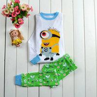 1 PC Retail 2014 New Boys minion Pajamas Children's Mickey Pyjamas Plane Pijama Kids Clothing set Printed Batman Sleepwears