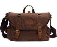 Eshow Mens messenger bags for men canvas messenger bag vintage crossbody bag for travel messenger bag