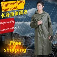 Long design one piece raincoat outdoor travel raincoat long big raincoat light raincoat with sleeves capa de chuva