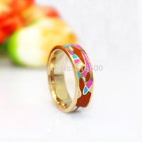 Newest Brand Product Glaze Colours Summer Enamel Rings,1pcs/pack