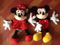 70cm Minnie and Mickey plush toys skin, mickey mouse toys jackets, teddy bear skin coat