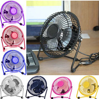 NEW USB Electric 4 Metal Head Fan 360 Rotate  Mute Radiator Fan diameter 13cm 390g Mini Portable Cooler Desktop Power Desk Fan