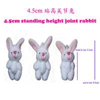 100pcs 4.5cm Joint Rabbit Doll Mini Plush Rabbit Cute Cell Accessories Mobile's Pendant