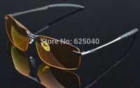 Quality goods!Night special drivers UV400CE polarized sunglasses men,Add yellow lens glasses,Metal Prevent glare sunglass F009