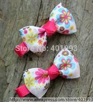 100pcs/lot  simply baby bow,Adorable Tiny baby Hair Clip, Infant Hair Clip,Newborn Mini itty-bitty Hair Bow 80Colors 4045