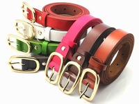 New 2014 fashion Cowhide women's thin belt  genuine leather all-match fashion carved strap Women casual belts