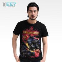 new 2014 summer world of tanks male t-shirt short-sleeve personalized short-sleeve t shirt