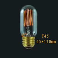 Vintage Edison Bulb Tungsten wire T45 e27 bulb for pendant light