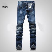 2014 NEW arrival designer jeans dsq jeans men ripped mens jeans famous brand dsq top quality slim fit jeans denim pants