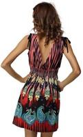 13colorsFree Shipping 2014 Fashion Vintage Print Floral Casual Summer Dress Women Beach Novelty Dress Plus Size