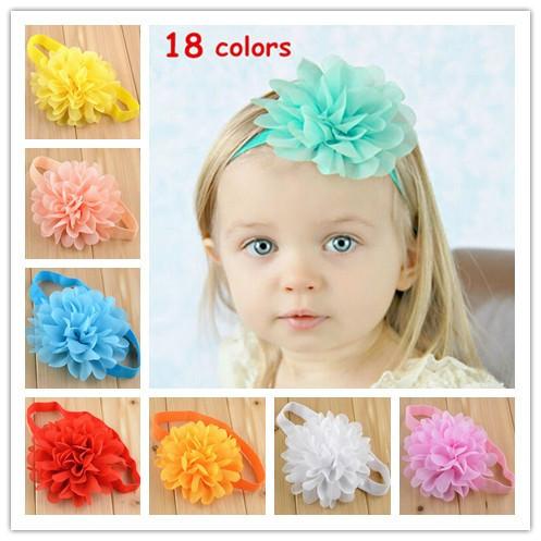 8pcs/lot 18color Free Shipping Girls Lace Headband Baby Chiffon Flower Headband Infant Baby Hair Accessories baby's Gift FDA13(China (Mainland))