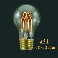 A21 bulb e27 tungsten wire light bulb reminisced silk vintage light bulb pendant light bulb