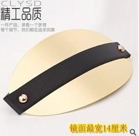 Kim kardashian wide metal plate metallic mirror belt wide cummerbund ealstic strech belt in gold and sivler, designer style