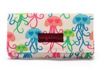 AB481 Cute floral print Cotton Fabric money clip Wallet Purse New 2014
