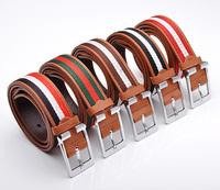 2014 cool multicolor unisex character chromatic stripe belt
