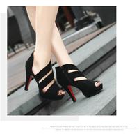 The new high-heeled sandals with thin nightclub waterproof fish head high-heeled shoes