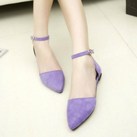 2014 new Princess Toe Women's shoes with thick buckle flat with flat sandals