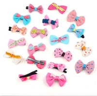 Wholesale 5 Pcs New Fashion Toddler Baby Girl Ribbon Bow Hair Clip Kids Bowknot Headband Salon Hair