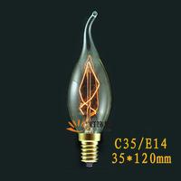 40W 110V 220v Edison Vintage incandescent bulb Silk Light Lamp Personality Screw-mount E14 candle bulb