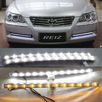 Excellent car-specific LED DRL 2009-2010 TOYOTA Reiz daytime running lights with yellow turning light fog lamp