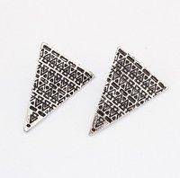 2014 Costume Jewelry Latest Style Popular Retro Triangular Openings Earrings Wholesale Nice Gift For Women Girl# 92243