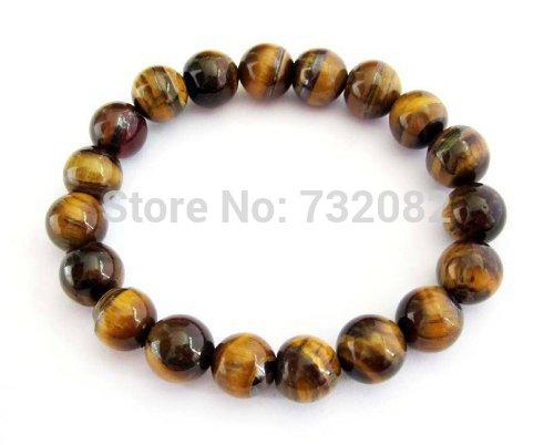 Oração Tiger Eye Gem Beads budista tibetano Mala Pulseira com Free Mala Bolsa E2815(China (Mainland))