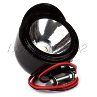 DC 12V-80V 3W Black Motorcycles LED Spot Headlight Long Lifespan