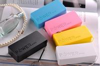 sale External Perfume Portable Battery powerbank 5600mAh USB External Backup Battery Power Bank with retail package