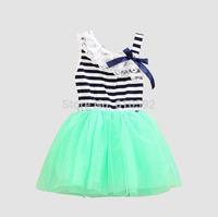 New 2014 Retail vestidos infantis carters baby girls dresses vestido de bebe menina girl summer stripe  princess dress clothing