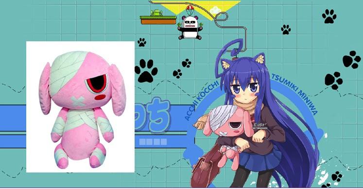 Japan Anime PLACE TO PLACE Tsumiki Miniwa Rabbit Bunny plush doll cosplay prop handmade 23 inches 60cm(China (Mainland))