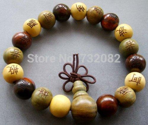 Oração gratuito Madeira envio Beads budista tibetana Pulseira Mala E2816(China (Mainland))