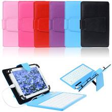 vosicar neue kommen pu-leder stehen gehäusedeckel mit micro usb-tastatur für 7-zoll-tablet pc freeshipping& Wholesale(China (Mainland))