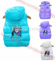 New 2014 kids vests & waistcoats, children vest, girls clothing, Frozen, spring/autumn, coletes infantis Free Shipping