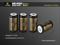 XTAR IMR 18350 3.7V 850mAh rechargeable Li-ion battery without PCB