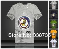 Spring 2014 man t-shirts OEM brand design 3D cartoon printed t shirt 100% cotton slim fit men's short sleeve T-shirt in summer