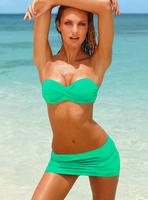 Triangle set , green swimwear