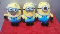 2014 New Sale Minions Blasting Stuffed Toy/god Steal Milk Dad 2 Devil Yellow Bean Pillow Doll / 20cm People Free Shipping