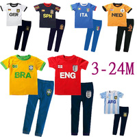 Retail 2014 new  2pcs/set little baby boy and girl cotton clothing sets Summer short sleeve infant casual active clothes suits