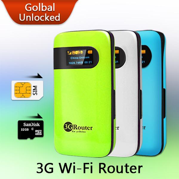 Mobile Device Portable Pocket Mini Wi-Fi Modem Support WCDMA HSPA Unlock Hotspot Wireless MiFi 3G WiFi Router with SIM Card Slot(China (Mainland))