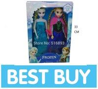 BY DHL Retail frozen princess dolls 2014 new cute Anna Elsa mini baby doll action figures frozen dolls toy 2pcs set classic toys