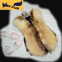 Brand New! Hot Sale! Women Natural Raccon Fur Vests Gilets Genuine Fur Coats Jackets Women Clothing Fashion Outerwear Customized