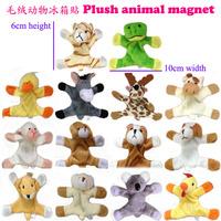 48pcs Plush Animal Fridge Magnets Plush Toy  Magnetic stick